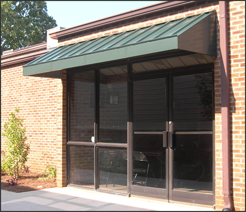 Awning commercial entrance