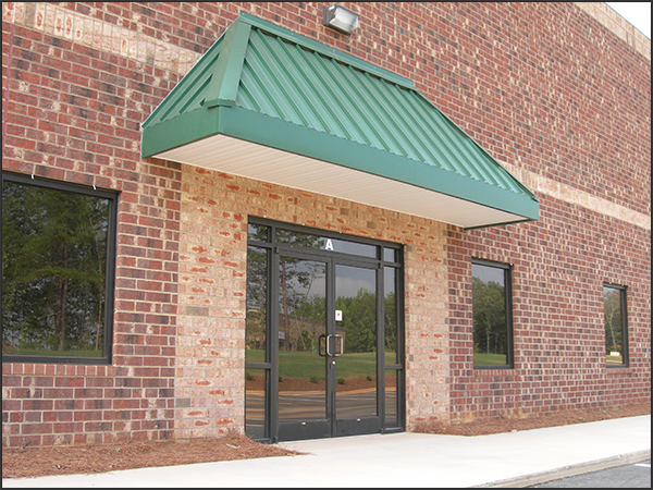 Awning for a double door